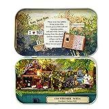 Decdeal Boîte à puzzle en bois drôle pour théâtre, maison de poupée miniature, décoration de la maison, jouet pour enfants