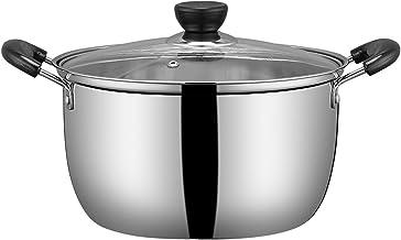 Stoomboot Pot Food Steamer, Roestvrijstalen Soep Pot Koken Pot Koken Pan Stomende Kookgerei Boiler Pot Steelpan, Met Dekse...