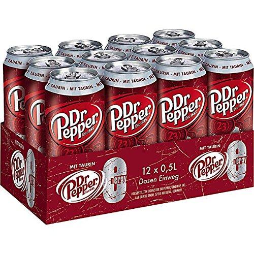 24 Dosen Dr Pepper Energy a 500ml inc. 6,00€ Einweg Pfand Mit Taurin