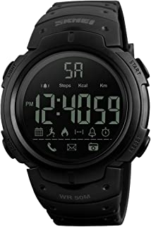SKMEI Men's 5ATM Water-resistant Sport Fitness Tracker Smart Watch