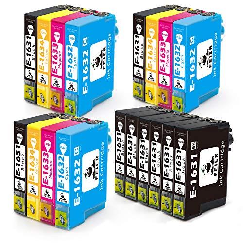 feier 16XL Ersatz für Epson 16 16 XL Druckerpatronen Kompatibel mit Epson Workforce-Druckern WF 2630WF WF 2750DWF WF 2530WF WF 2510WF WF 2010W WF 2520NF WF 2540WF WF 2650DWF und WF 2660DWF, 18er-Pack