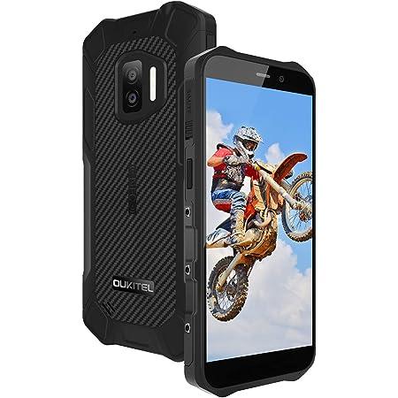 OUKITEL WP12 SIMフリー スマホ 本体 防水防塵耐衝撃 Android 11 スマートフォン 4000mAhバッテリーシムフリースマホ、32GB+4GB(256 GB拡張可能)、5.5インチ、デュアル4G SIM、IP68防水、13MPカメラ、NFC、GPS、独立した3.5mmヘッドフォンジャック。