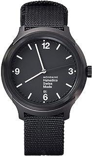Mondaine - Helvetica Bold - Reloj Negro Casual para Hombre y Mujer,MH1.B1221.NB, 43 MM