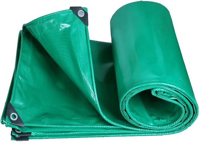 Tarpaulin HUO Draps Imperméables De Bache, Toile Durable D'auvent De Vert, Résistance Anti-UV De Larme pour Le Camion (Couleur   Vert, Taille   7  8M)