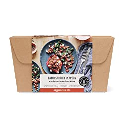 Amazon Meal Kits, Lamb Stuffed Peppers with Za'atar, Swiss Chard & Feta, Serves 2