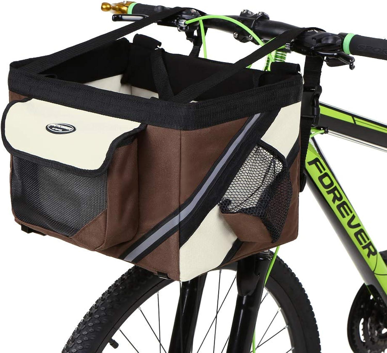 Lixada Bicycle Handlebar Basket Bike Front Bag Box Pet Dog Cat Carrier Pet Bike Basket