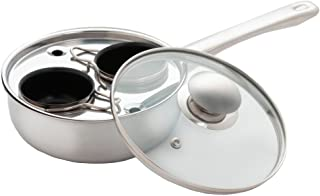 ExcelSteel Egg Poacher, 2 Cup, Stainless