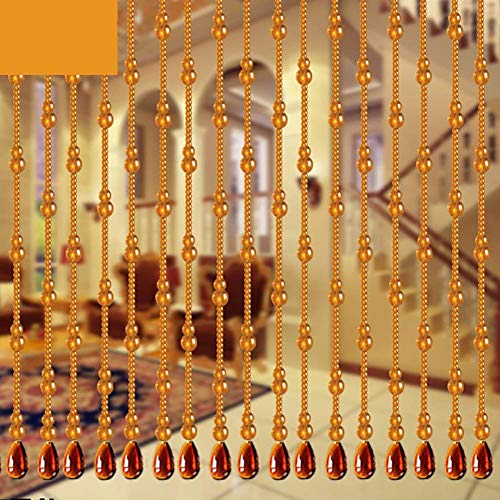 ZXL Beaded Curtains Crystal Glass Pendant for Door Room Divider Hanging Strings Decorative Panel (Size: 160x80cm)