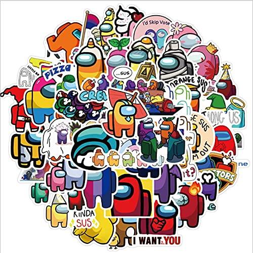 BUCUO Juego Entre Nosotros, un monopatín Impermeable de Graffiti, Maleta de Viaje, Pegatina de Equipaje para teléfono móvil, Lindos Juguetes para niñas y niños, 100 Uds.