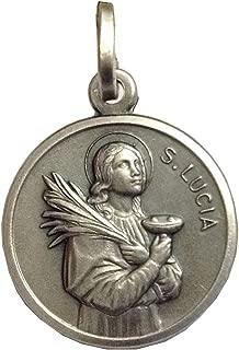 Medalla de Santa Lucía de Plata Maciza 925