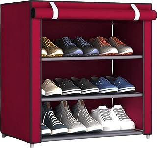 Evisen Zapatero Tela para Interior Exterior y Armario con Cremallera - Organizador Zapatos para Habitación Camping Reci...