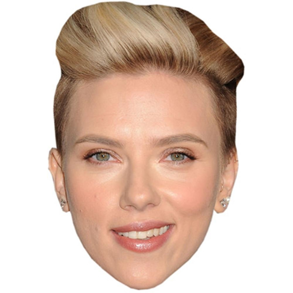 Scarlett Johansson Celebrity Mask Flat Card Face Fancy Dress Mask Amazon Co Uk Toys Games