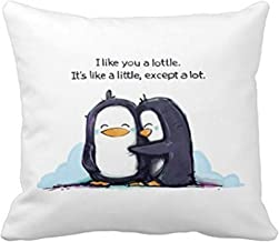 SIXSTARS Pillowcases I Like You a Lottle Penguins (20x20inch)
