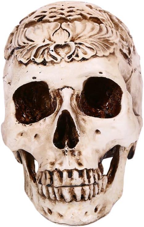 PRETYZOOM Resin Skull Head Decor New Free Shipping Skele Oil Effect 2021 model Drop Halloween