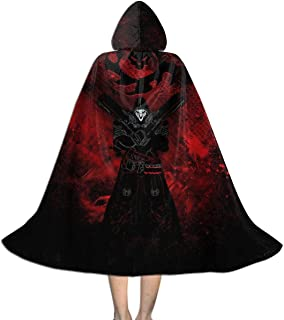 Reaper Art Ov-erwatch Unisex Hooded Cloak Cape Halloween Party Decoration Role Cosplay Costumes Black