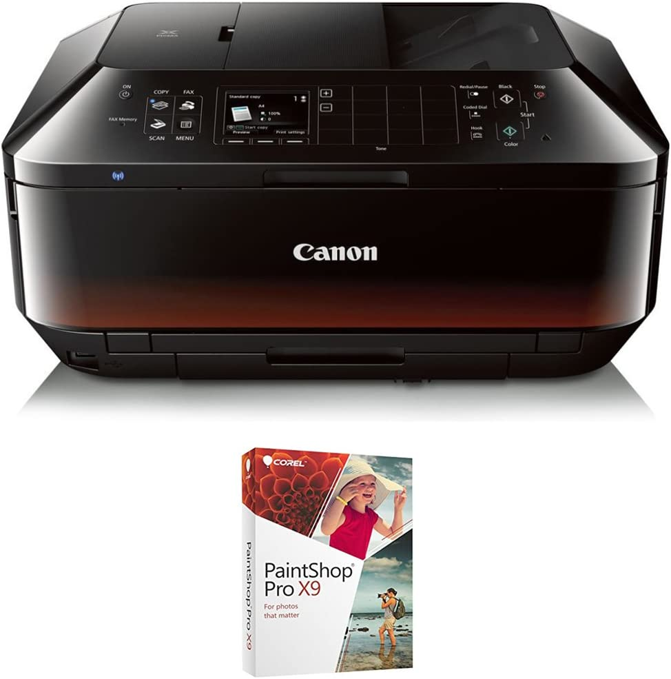 Canon PIXMA MX922 Wireless Inkjet Office All-In-One Printer with Corel PaintShop Pro X9 Bundle