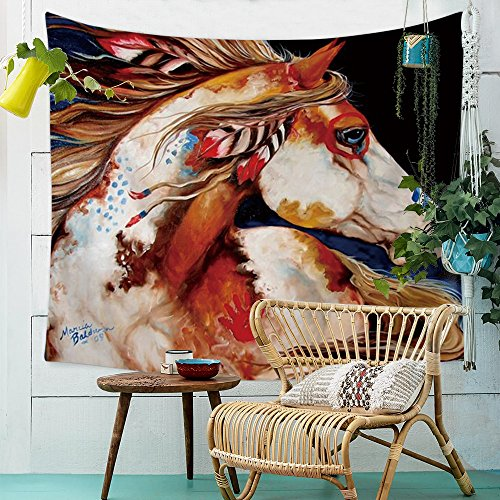 Pferd Tapisserie Animaux Mural Tapestry Tapisserie Tenture murale Nappe de table Serviette de plage Grand modèle 200x150cm 6
