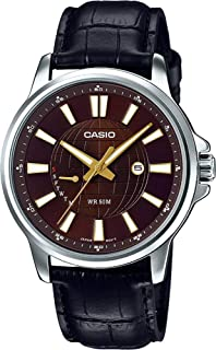 Casio Watch For Men Leather Mtp E137L 5Avdf, Analog