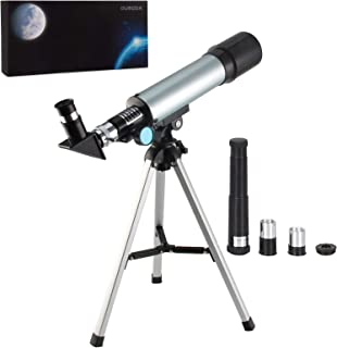 Oumoda Telescope, 90 X Refractor Telescope, Astronomy Telescope Tabletop Nature Exploration Gifts Toys for Kids, Adults Sk...