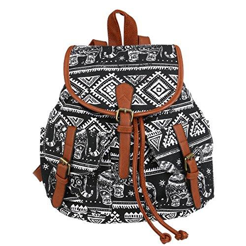 WINOMO Freizeitrucksack Canvas Casual Schulrucksack Rucksack Daypacks Camping Schultasche Backpack