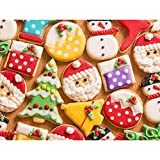 300 Piece Puzzles for Adults and Kids Cookies Jigsaw Puzzle 300 Piece for Kids Adults Sweets Christmas Puzzles for Family 300 Pieces