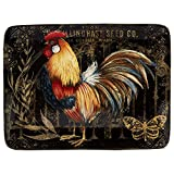 Certified International 23659 16' x 12' Gilded Rooster Rectangular Platter, One Size, Multicolor