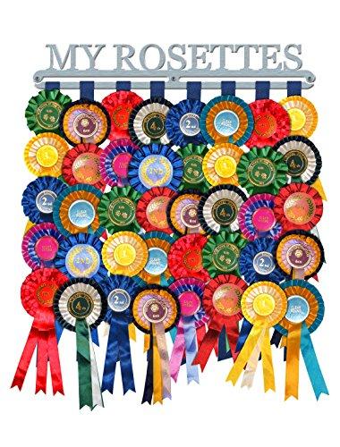 Rosette Display Award Ribbon Hanger Holder 'My Rosettes' Brushed Stainless Steel