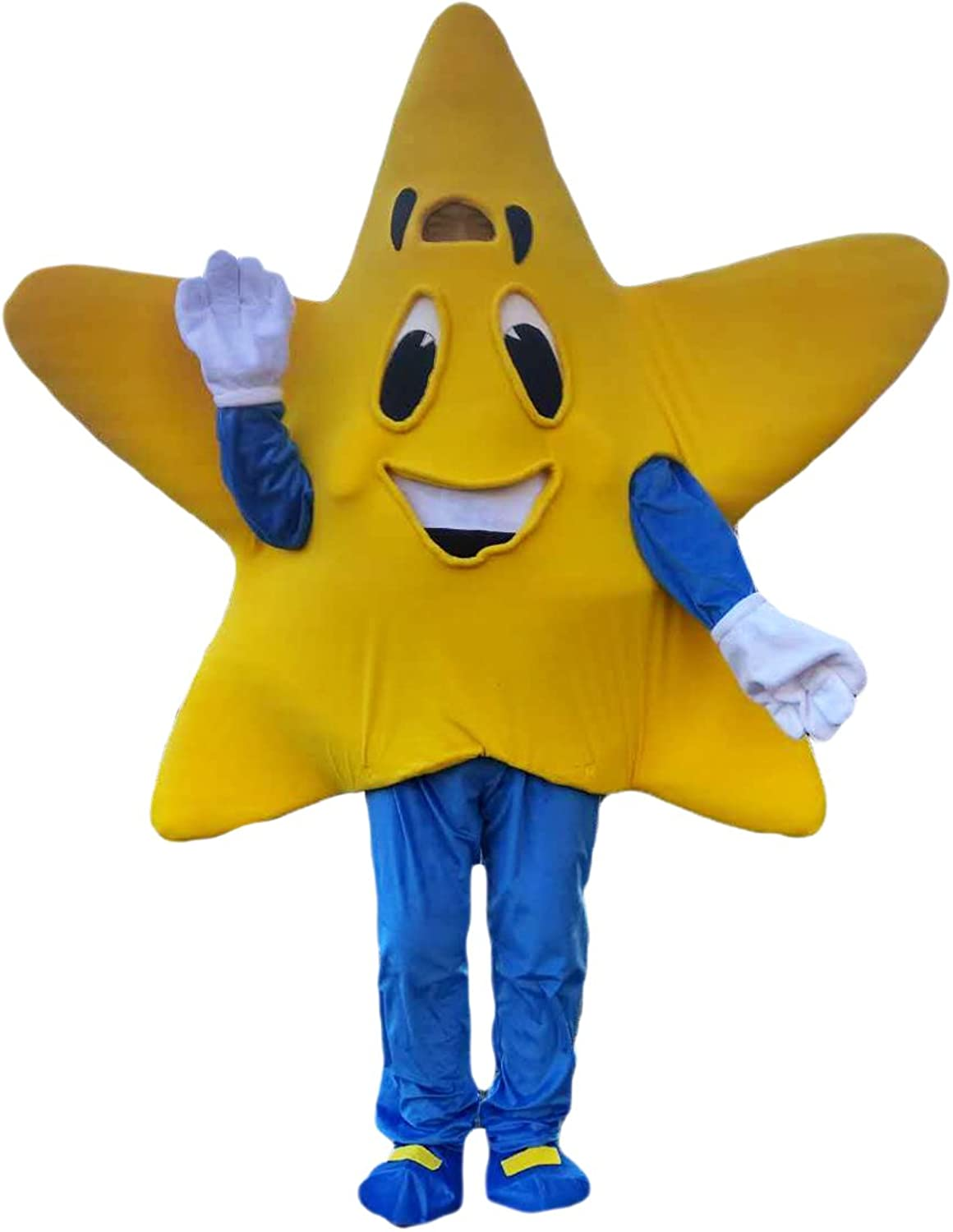 Yellow Star Cartoon Mascot Costume Masquerade Real Picture 1520days Delivery