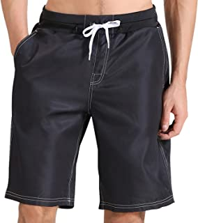 Men's Swim Trunks Quick-Dry Board Shorts Swimming Trunks for Men Swim Shorts with 5 Pockets Drawstring and Mesh Lining