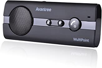 Avantree 10Bp Bluetooth Car Kit Sun Visor Installing and Echo and Noise Cancellation Technology Multi-Function