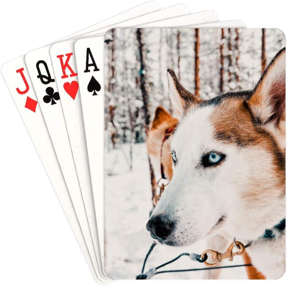 WUTMVING Fun Deck of Cards Unusual Siberian Naughty Husky Max 41% Memphis Mall OFF Playin