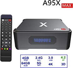 $85 Get Android 8.1 TV Box,Dolamee A95X 4GB RAM 64GB ROM Amlogic S905X2 Quad Core 64bit Smart TV Box Support 3D 4K2K@75fps/ 5G&2.4G Dual Band WiFi/BT 5.0 & USB 3.0 Media Player Box with Recording Function