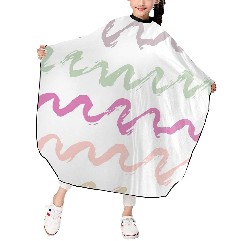 HJM-LFWQ カットケープ 散髪ケープ カットクロス スタイリング 幾何模様 線 点 多彩 スモック カバー ヘアカットケープ 刈布 美容室 理容室 折りたたみ式 子供用 家庭用 理髪店向け 120*100cm