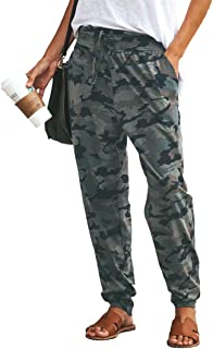 Women's Casual Loose Camouflage Pants Drawstring Joggers Sweatpants Harem Sports Yoga Pants Bottoms with Pockets