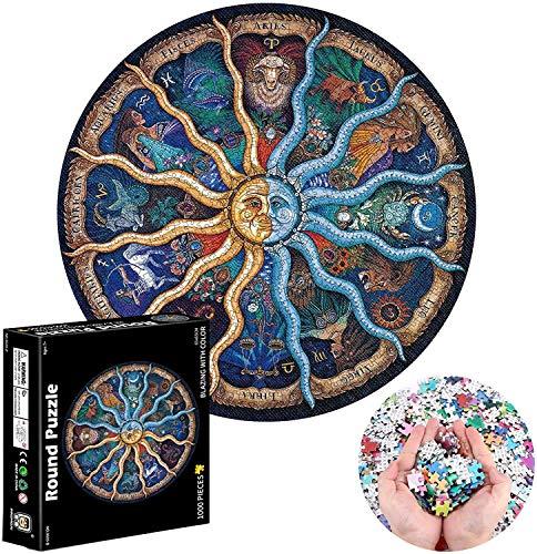 1000 Piezas Rompecabezas,Rompecabezas De Círculo,Rompecabezas Redondos,Cardboard Puzzle,Puzzle Adultos,Puzzle Creativo,Rompecabezas para Niños