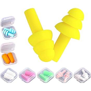 12 pares cancelaci/ón de ruido Tapones para los o/ídos esponja 6 colores