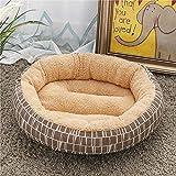JY Casa para Mascotas Plegable Cama para Mascotas Donut Bolsa Cálida Redonda para Perros Y Gatos Conductividad Térmica Antideslizante Lavable en la Lavadora