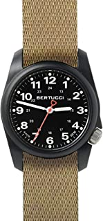 Bertucci A-1R Field Comfort 10502 Mens Khaki Nylon Band Black Quartz Dial Watch
