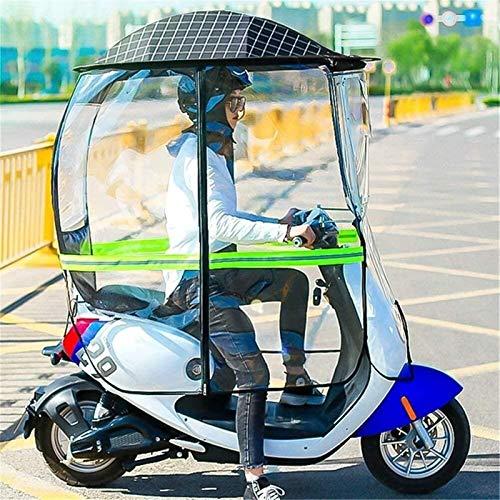 Cubierta De Parasol De Motocicleta Eléctrica Universal, Cubierta Impermeable De Lluvia para Scooter, Cubierta De Paraguas De Dosel De Coche con Batería (Color : Black, Size : B)