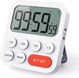 LIORQUE Kitchen Timer Digital Cooking Timer, Magnetic Count Up & Countdown Timer with Large LCD Display and Loud Alarm, 99...