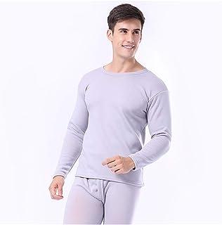 Women Men Thermal Underwear Autumn Winter Thicken Lovers Pajama Keep Warm Clothes Cotton Set Elasticity (Color : Men3, Siz...