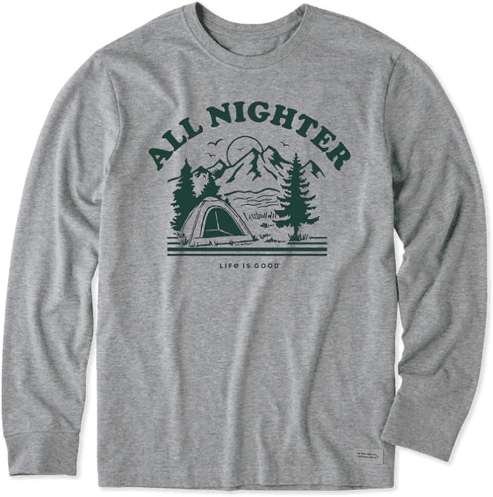 Life is Good Men's Long Sleeve Crusher-Lite T-Shirt