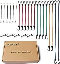Joneaz Bungee Cords with Hooks, Heavy Duty Tie Down Cord Assortment, UV Resistant,24 Piece