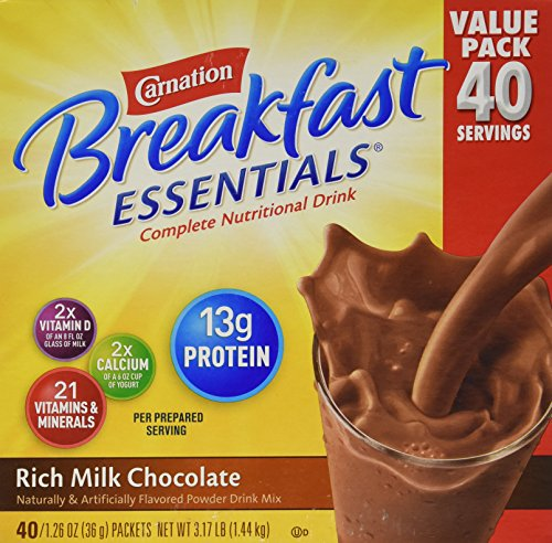 Carnation Breakfast Essentials 40126oz Packets  Rich Milk Chocolate