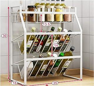 KOKOF Étagère de cuisine multi-couches pour assaisonnement Daquan comptoir d'huile, de sel, de vinaigre, de vinaigre, de r...