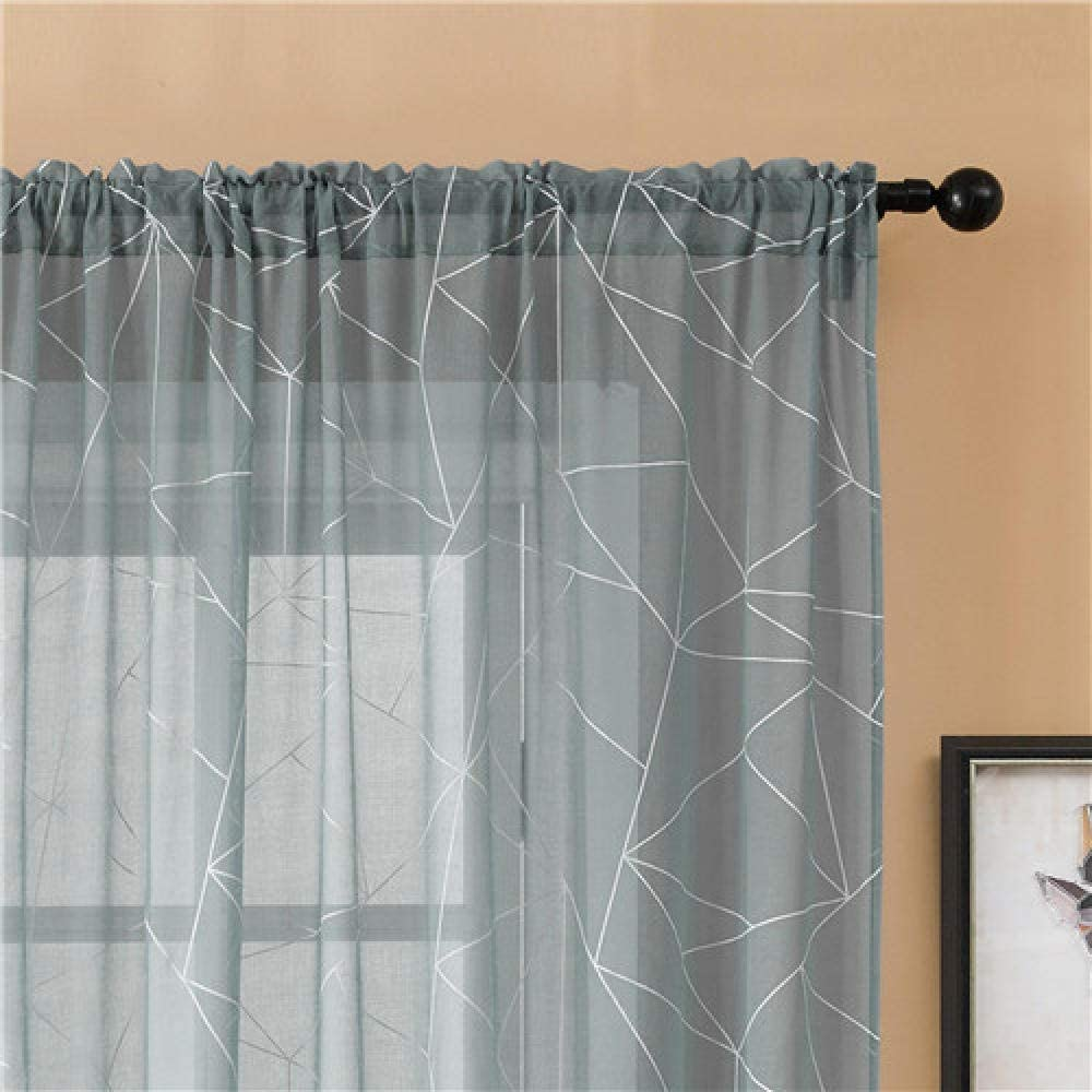 Blackout Animer 2021 spring and summer new and price revision Curtains for Bedroom Transparents Géométriques Rideaux