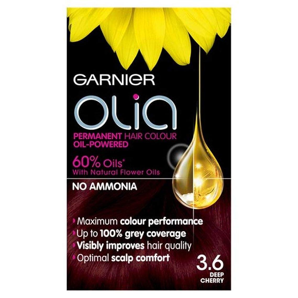 連邦泥だらけラジウム[Garnier ] 3.6深いチェリーレッドパーマネントヘアダイOliaガルニエ - Garnier Olia 3.6 Deep Cherry Red Permanent Hair Dye [並行輸入品]