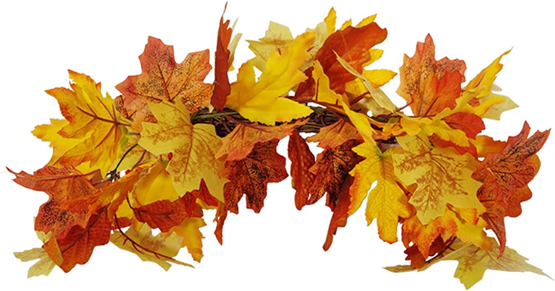 Mail order cheap BOICXM Fall Max 56% OFF Maple Leaf Artifi Leaves Artificial Swag