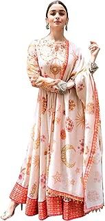 Ultimate Ecommerce Women's Alia Bhatt Digital Printed Gown (Ulti_UE12467_Peach_Free Size)