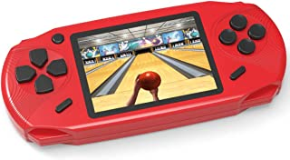 TEBIYOU Adults Kids Handheld Game Console, Portable Retro Game Player Built in 16 Bit 100 HD Classic Electronic Video Games 3.0'' Large Screen USB Rechargeable Handheld Game for Toddlers (Red)